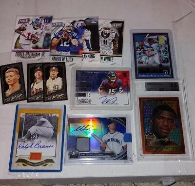 Huge 500 Sports Card Collection Lot With Autos Patches Inserts Rookies Big Bv $$