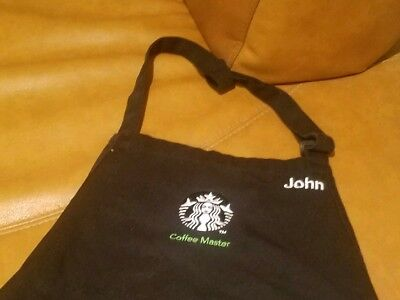 Starbucks Black Coffee Master Apron Embroidered With The Name John