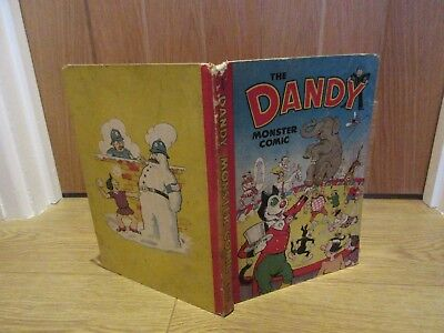 THE DANDY MONSTER COMIC Book (hardback), 1951  VGC - LIKE BEANO. No Inscription