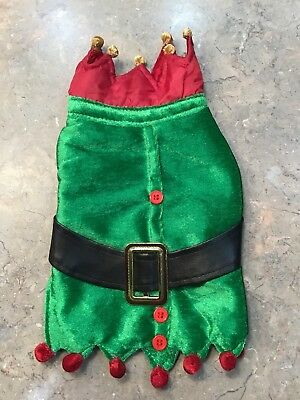 Elf Dog Costume Christmas Pet Outfit Coat Small NWOT