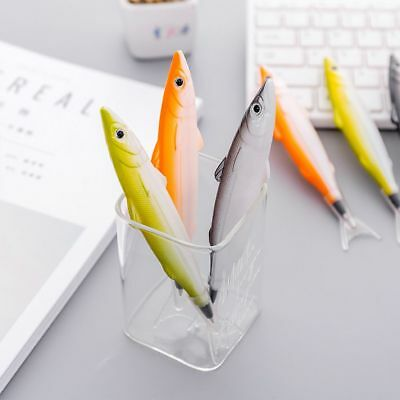 Novelty Marine Fish Model Ballpoint Pen Plastic Ball Pens School Stationery