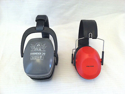 2 Ear Muffs Shooting Hearing Protection Howard Leight Thunder 29 and Peltor