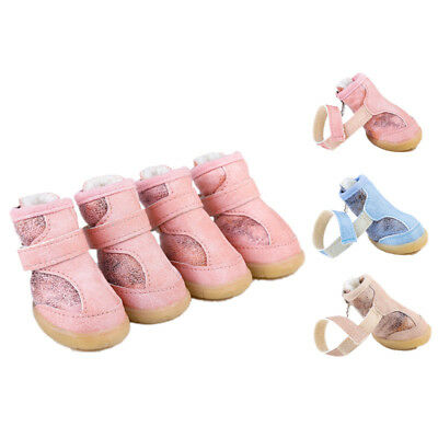 Winter Waterproof 4pcs/set Pet Dog Shoes Non-slip Snow Boots Puppy Sneakers XXL