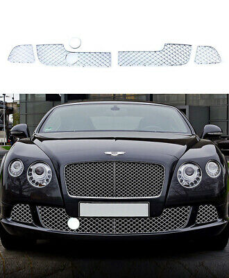 For Bentley GT GTC W12 Grills 2011-15 Chrome Lower Grills Speed GTC W12 Grill