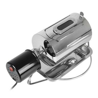 Stainless Steel Coffee Bean Roaster 220V Electric Roasting Machine With Tray xa*