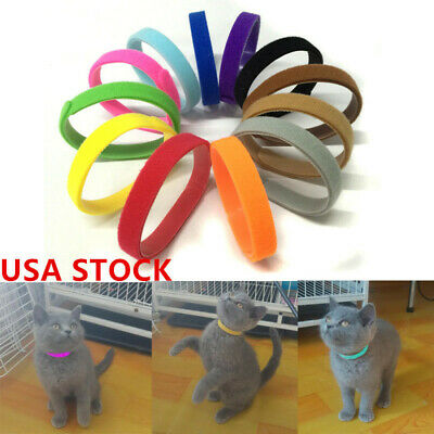 12Pcs Puppy Pet Whelping ID Collar Dog Cat Identification Collar Adjustable #US