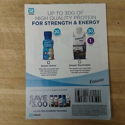 (15) $3.00  Ensure Multipack Coupons Save Total $45!!