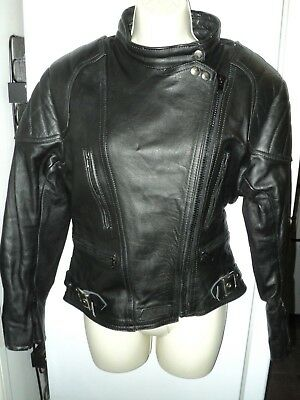 """Sportex Womens Black Leather A5 Style Jacket size 18 38"""" Chest"""