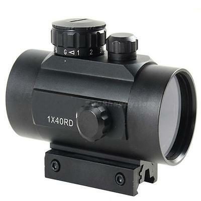 Red/Green Dot Tactical Sight Holographic Laser Rifle Scope Mount  Picatinny