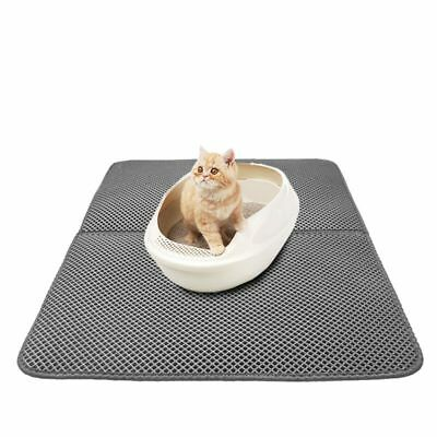 Pet Cat Double Layer Litter Pad Mat Large Flexible Trapping for litter Box AU