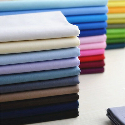 Solid Plain Poplin Polycotton Fabric Polyester Cotton By The Metre 150cm Wide