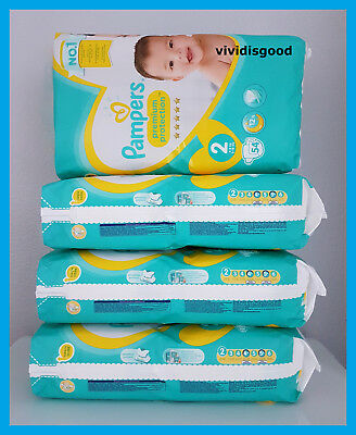 LOT DE 216 (4x54) COUCHES PAMPERS PREMIUM PROTECTION TAILLE 2 (4-8 kg)