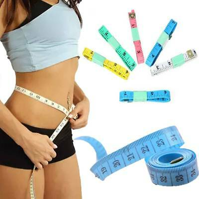 2Pc Practical Body Measuring Ruler Sewing Cloth Tailor Tape Measure Supple Flat