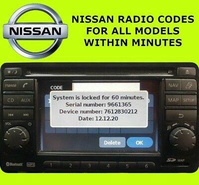 Nissan Radio Code Connect Stereo Unlock Codes Bosch Pin Code Within Minutes