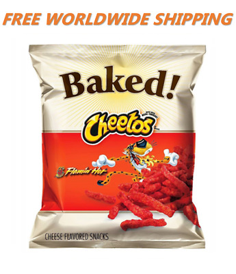 Cheetos Oven Baked Flamin' Hot Chips 7.625 Oz FREE WORLDWIDE SHIPPING