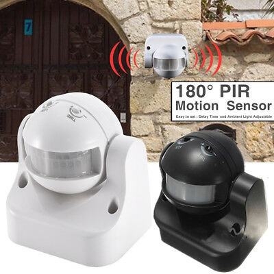 180° Outdoor IP44 Security PIR Infrared Motion Sensor Switch Movement Detector.