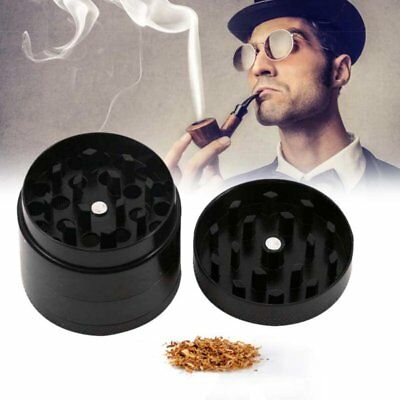 Black 4 Layer Metal Tobacco Crusher Smoke Herbal Herb Grinder Hand Muller Alloy