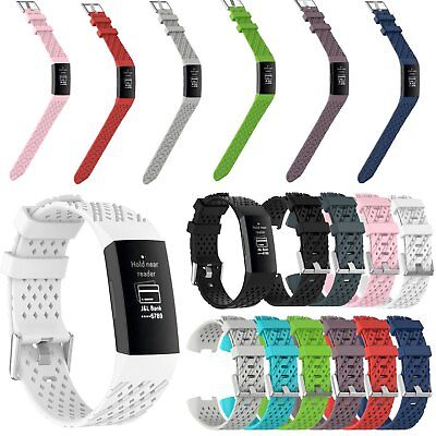 Silicone Watch band Wristband Replacement Strap Bracelet Link for Fitbit charge3