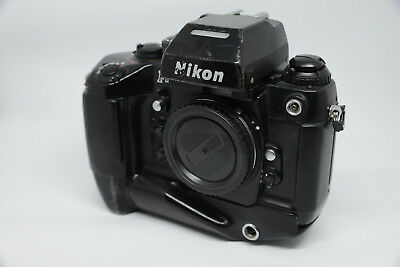 NIKON F4s 35mm camera body Analoge Profikamera SLR Gehäuse F4 High Speed MB-23