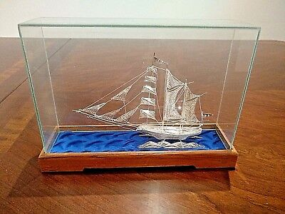 Magnificent Solid Sterling Silver Spanish Filigrane Ship