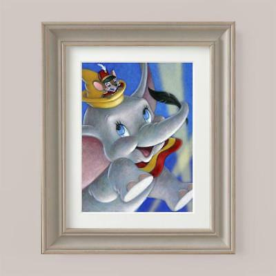 Disney Picture Print DUMBO ELEPHANT Mouse Nursery Bedroom Baby Shower Birth Gift