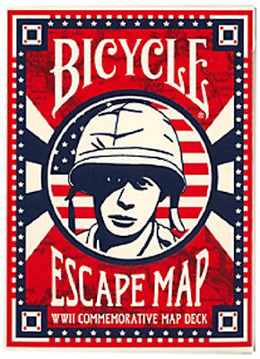 Bicycle Escape Map WWII Commemorative Playing Cards - 1 Sealed Deck