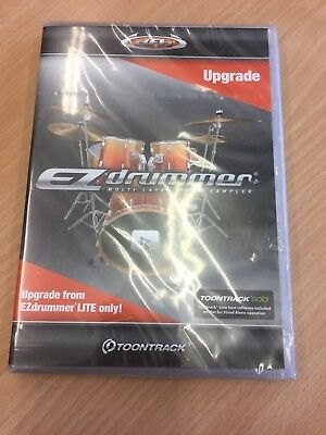 Toontrack EZlite to EZdrummer 2 Upgrade (Serial Download)brand New And Sealed