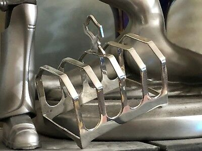 Art Deco Sterling Silver Toast / Letter Rack -  Viner's Ltd  - Sheffield - 1936