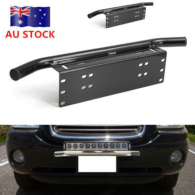 Liscence Number Plate Holder Mount Bracket Car Bumper LED Driving Light Bar SAO