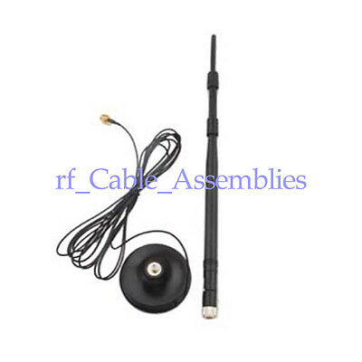 2.4GHz 9dBi Omni WIFI Antenna with extended cable RP-SMA 3M for Wireless D-Link
