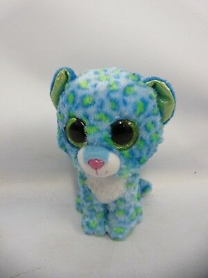 860a1ad97cc Ty Beanie Babies Blue And Green Cat Leona Soft Toy