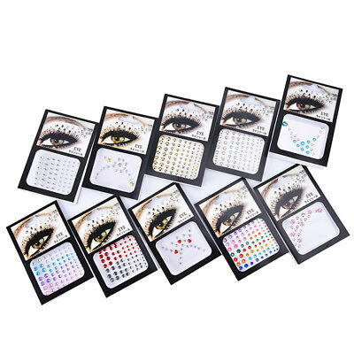 1pc diamond eyeshadow face sticker crystal eyes tattoo sticker  eyes makeup B0IT