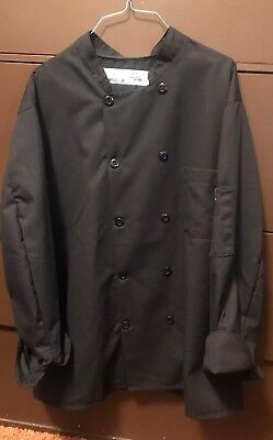 CHEF DESIGNS  BRAND CUFFED SLEEVE CHEF COAT Size XL-Unisex