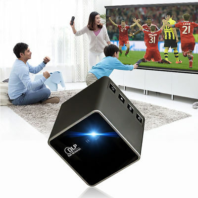 DLP Wifi 1080P Mini LED Wireless Video Projector Movie Multimedia Portable Home