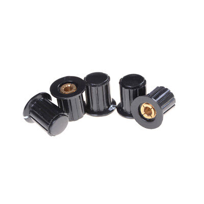 5x Ribbed Grip 4mm Split Shaft Potentiometer Control Knobs Black High qualityUUM