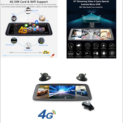 4 Channel Touch Screen Car DVR Camera Video Recorder 32G WIFI Night Vision GPS