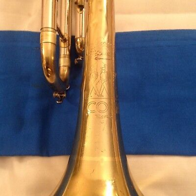 CONN 16 B U.S.A. VINTAGE TRUMPET WITH Mpc   PLAY IT NOW    GOOD BEGENNER HORN