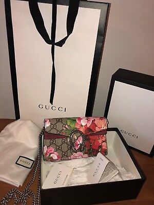 4573edd4e63a GUCCI BLOOMS GG Crossbody Bag Dionysus GG Mini Purse 100% Authentic Chain  Strap