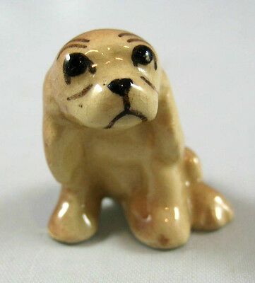Hagen Renaker miniature made in America Cocker Spaniel puppy dog seated retired