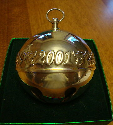 2001 31st Edition Wallace Silverplated Sleigh Bell
