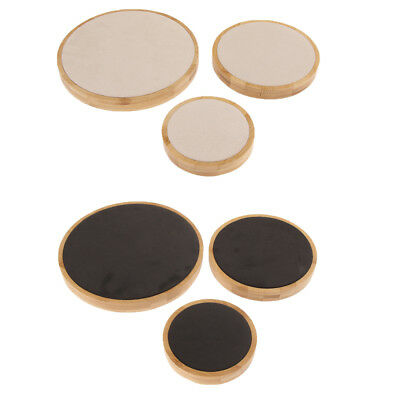 3Pcs Solid Wood Jewelry Holder Ring Pendant Bracelet Display Stand