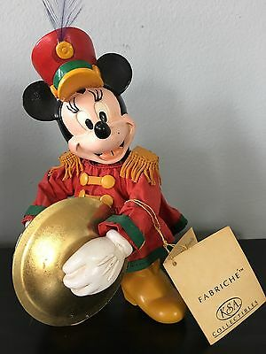 Fabriche Minnie Mouse with Cymbals Kurt Adler Hand Painted Collectible Vintage