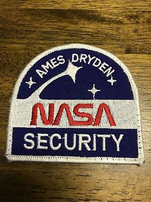 Nasa Ames Dryden Security Office Police Patch Badge Vintage New
