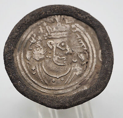 Extremely Beautiful Ancient Sasanian Coins In Vintage Bronze Men's Ring#sh1144
