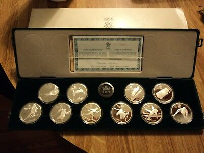 1988 Canadian Olympic Sterling Silver 10-Coin Set 10 Oz.