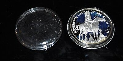 Sioux Nation - Franklin Mint Tribal Series, .999 silver
