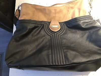 Storksak Baby Changing Bag Black And Camel Colour With Changing mat