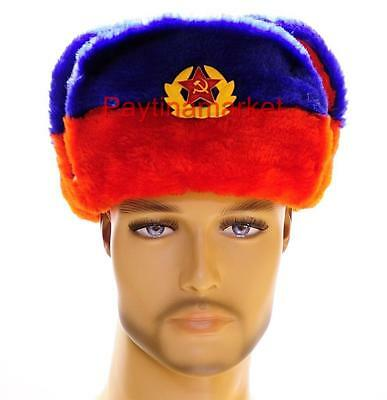 Winter Russian Soldier Army Hat Ushanka Millitary Tricolor of Russia Cap Uniform