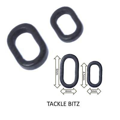 4.5mm Carp Fishing #37B450 Pack of 50 Taska Oval Rig Rings