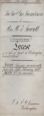 Authentic 1914 Land lease document Distington Cumbria